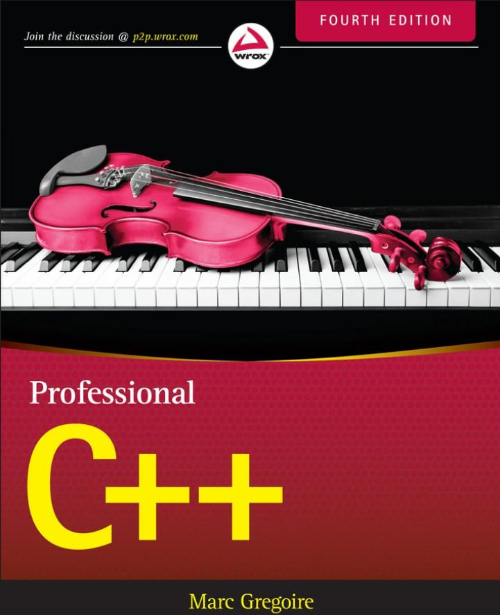 《Professional C++, Fourth Edition》(英文原版专业C++ 第4版)Marc Gregoire文字版PDF电子书下载